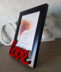 Love Customize Table Photo Frame Red and Black