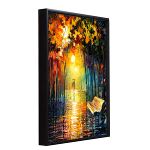 A Walk in The Rain Theme 1 Framed Canvas