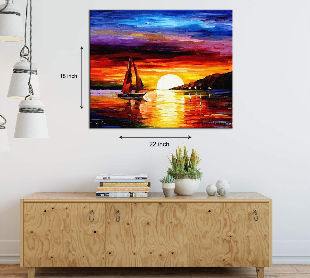 Nature Reflections Art Print,Landscape Canvas Painting