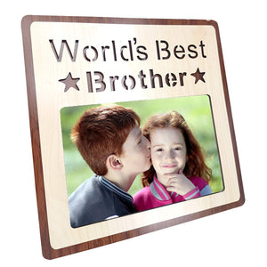 Wood Engraved Personalized Photo Frame, Picture Frame (World's Best Sister -Multi)