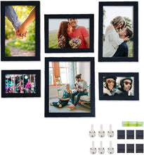 Load image into Gallery viewer, Individual Black Wall Photo Frame Set