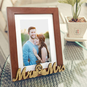 MR & MRS Customize Table Photo Frame For Valentine Day Photo Gift / Love Gift