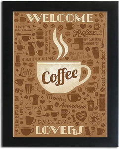 Holiday Theme Motivational Quote Poster # Welcome Coffee Lovers