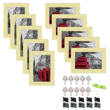 Load image into Gallery viewer, Set of 10 Individual Black Wall Photo Frames / Wall Decor
