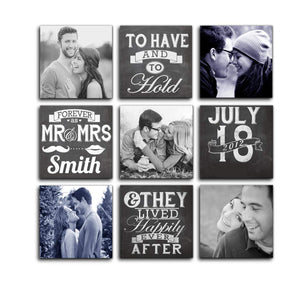Art Street Personalized Photo to Canvas Print Wall Art Print Set of 9 - 8x8 Inches