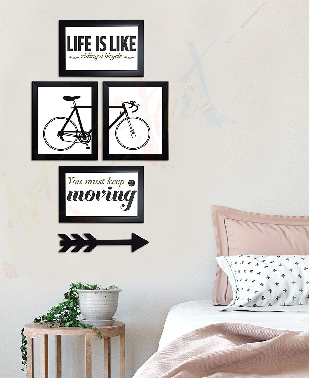 You Must Keep Moving Wall Photo Frame with MDF Arrow