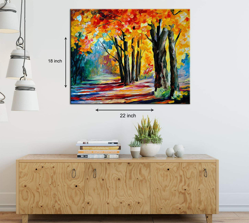 Art Street Nature Blessings Art Print,Landscape Canvas Painting
