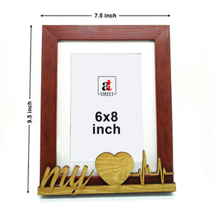 My Heart Beat Customize Table Photo Frame For Valentine Day Photo Gift / Love Gift