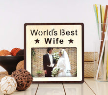 Load image into Gallery viewer, Wood Engraved Personalized Photo Frame, Picture Frame For Table Decor