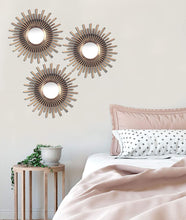 Load image into Gallery viewer, Art Street -Set of 3 Sun Streek Mirror Decorative in Round Shape (9 x 9 Inchs)
