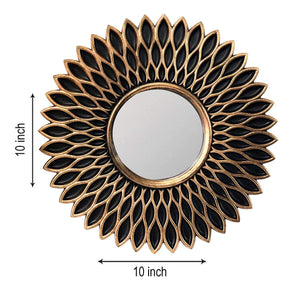 Decorative Round Black Wall Mirror for Living Room Set of 3