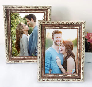 Rustic Brown Wall and Table Top Photo Frames