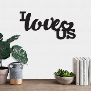 Art Street I Love US MDF Plaque Painted Cutout Ready to Hang Home Décor Wall Art