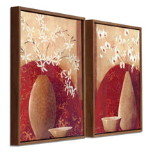 Load image into Gallery viewer, Floral Theme Framed Canvas Painting