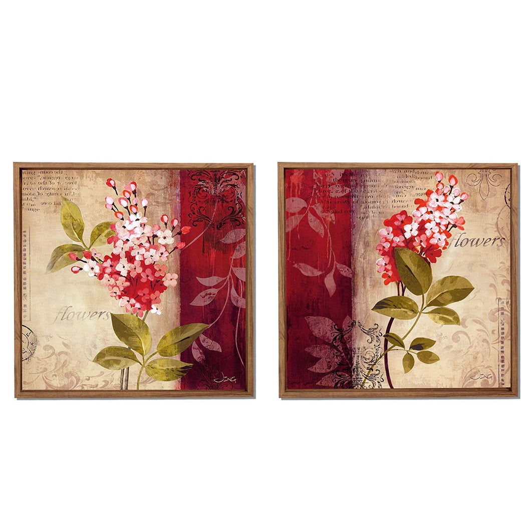Floral Print Framed Canvas Painting