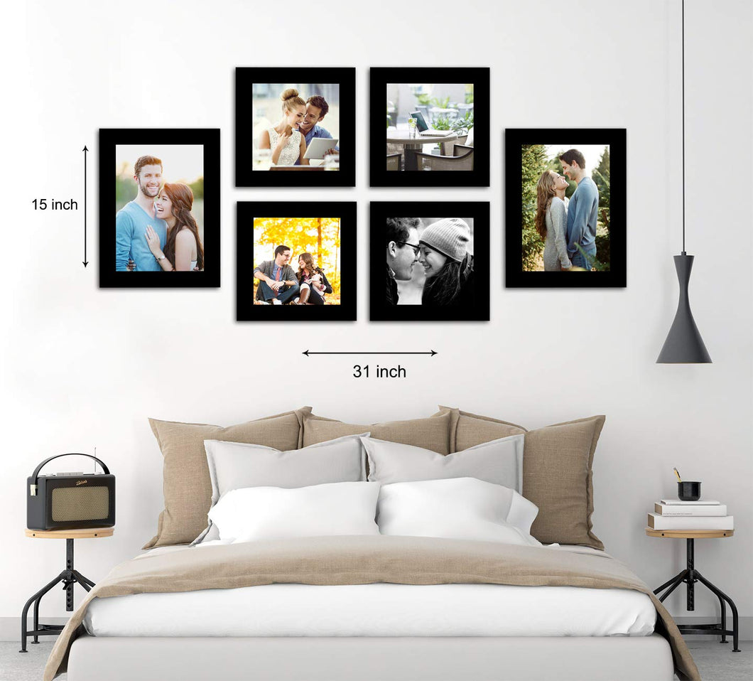 Decorous Wall Photo Frame - Set of 6 Individual Photo Frames