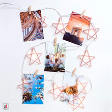 Load image into Gallery viewer, 10 Bulb Iron Five Pointed Star Shape Decorative String Light Battery Powered ||1.5 Meter||