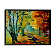 Load image into Gallery viewer, Art Street A Walk in The Fall Art Print,Landscape Canvas Painting