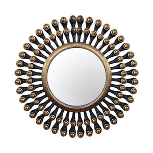 Art Street -Set of 3 Back Gold Mirror Decorative in Round Shape (10 x 10 Inchs)