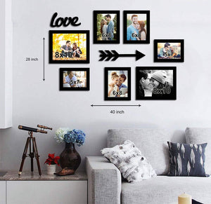 Love Infinite Individual Wall Photo Frame+2 MDF Plaque (Arrow & Love).