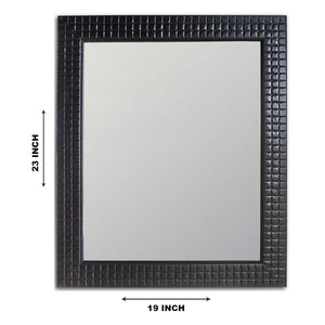Black Flat Decorative Wall Mirror/Looking Glass Inner Size 12 x 16 inch, Outer Size 15 x 19inch