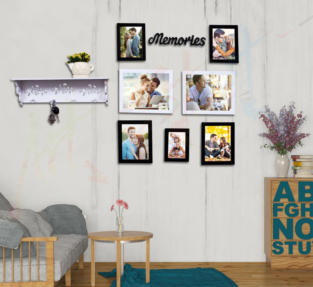 Home Memories Set of 7 Individual Photo Frame Frame Black and White