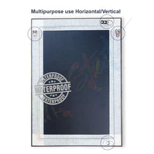 Load image into Gallery viewer, Silver Rectangle Synthetic Pearl Wall Mirror Inner Size 12X16 inch, Outer Size 15X18