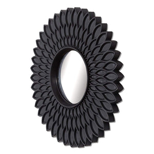 Black hive Decorative Wall Mirror (Set of 3)(Size - 9 x 9 inch)