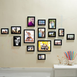 Encapsulate Set of 15 Individual Black Wall Photo Frame