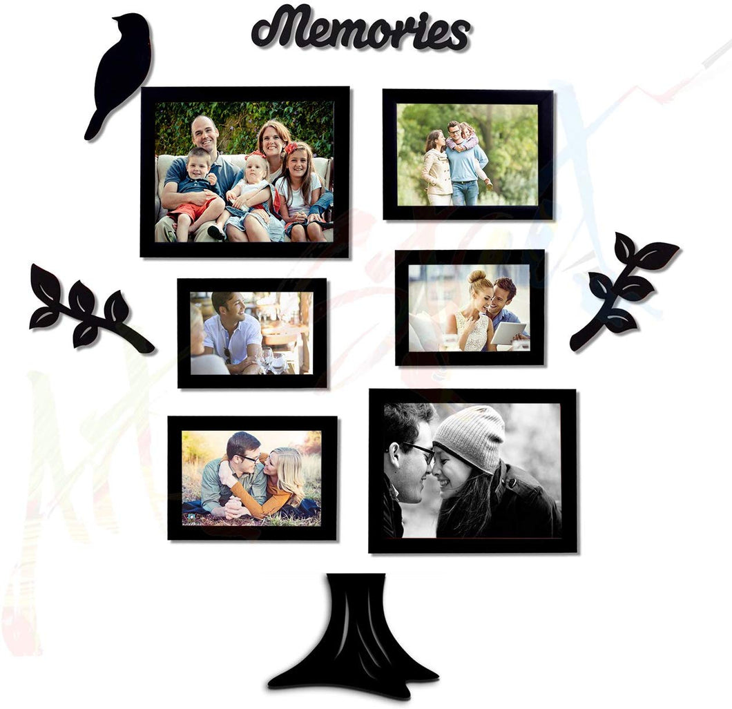 Memory Tree Individual Black Wall Photo Frame With MDF Plaque