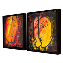 Load image into Gallery viewer, Abstract Faces Theme Framed Canvas Painting