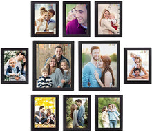 Load image into Gallery viewer, 10 Individual Black Wall Photo Frames Wall Decor Set