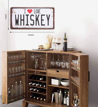 Load image into Gallery viewer, I Love Whiskey With Printed Top Poster Tin Sing Plate