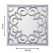 Load image into Gallery viewer, Silver Square Decorative Wall Mirror/Looking Glass (Set of 3)(Size - 10 x 10 inch)