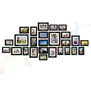 Galaxy Set of 26 Individual Black Wall Photo Frame