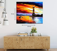 Load image into Gallery viewer, The Lighthouse Art Print,Landscape Canvas Painting