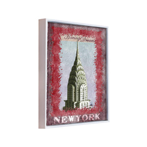 York Tower Theme 1 Framed Canvas