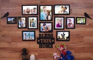Bless This Home Set of 12 Individual Photo Frame Frames