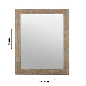 Gold Decorative Rectangle Wall Mirror Inner Size 12X16 inch, Outer Size 15X18 Inch