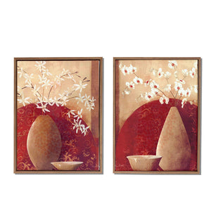 Floral Theme Framed Canvas Painting
