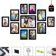 Load image into Gallery viewer, 11 Individual Black Wall Photo Frames Wall Decor Set