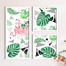 Load image into Gallery viewer, Art Street Flamingo Theme in Framed Printed Set of 3 Wall Art Print, Painting