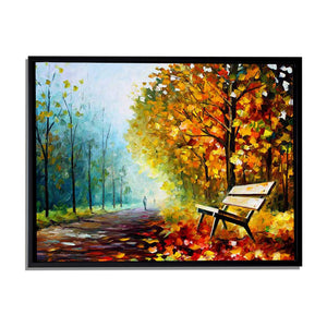 Art Street Walk in The Fog Art Print,Landscape Canvas Painting