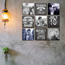 Load image into Gallery viewer, Art Street Personalized Photo to Canvas Print Wall Art Print Set of 9 - 8x8 Inches