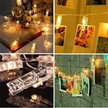 Load image into Gallery viewer, 24 LED Photo Clips String Lights Photos Pictures and Home Decoration- (Pack Of -2)