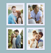 Load image into Gallery viewer, Individual White Wall Photo Frames Wall Decor Set