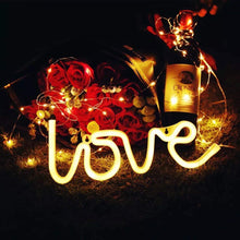 Load image into Gallery viewer, Love Shaped Battery Night Light For Home Decor, Color - Warm White