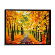 Load image into Gallery viewer, Art Street Forest in Fall Landscape Canvas Painting