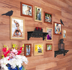 Bird's Nest Individual Wall Photo Frame - Mix Color With 2 PVC Wall Self