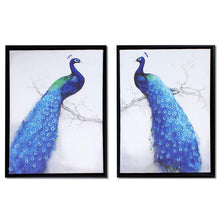 Load image into Gallery viewer, Peacock Theme Framed Canvas Painting